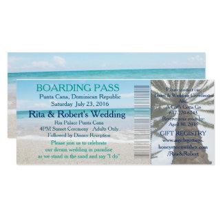 Wedding Boarding Pass Ticket-Destination 10 Cm X 24 Cm Invitation Card