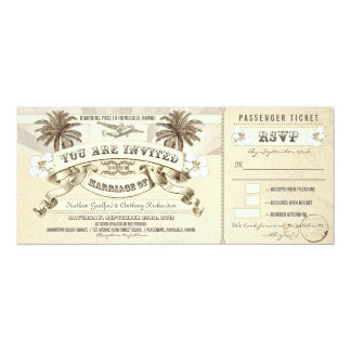 wedding boarding pass tickets invitations