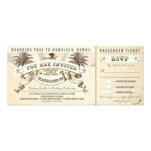 wedding boarding pass tickets - invitations