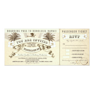 wedding boarding pass tickets - invitations