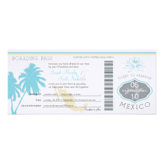 Wedding Boarding Pass to Mexico Announcements