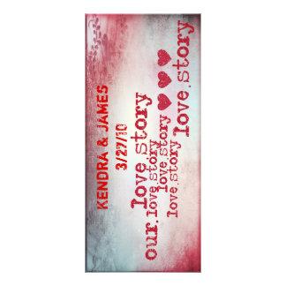Wedding Bookmarks Favors Book Mark love story Customized Rack Card