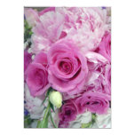 Wedding bouquet 5x7 paper invitation card