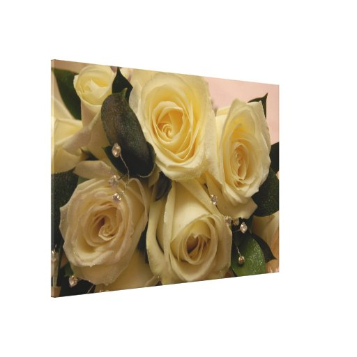 Wedding bouquet canvas print
