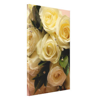 Wedding bouquet stretched canvas print