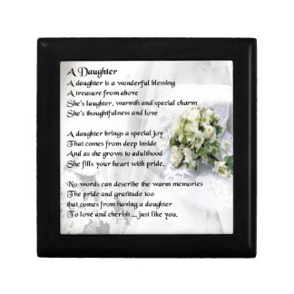 wedding bouquet   Daughter Poem Gift Box