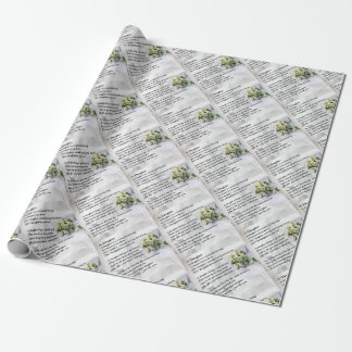 wedding bouquet   Daughter Poem Wrapping Paper