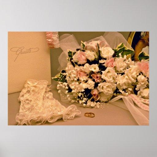 Wedding bouquet  flowers poster