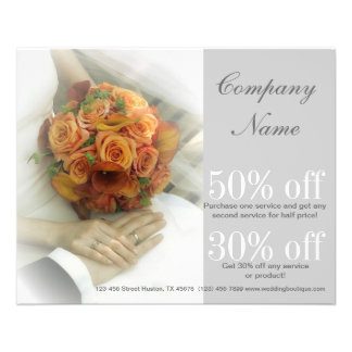 wedding bouquets wedding planner business 11.5 cm x 14 cm flyer