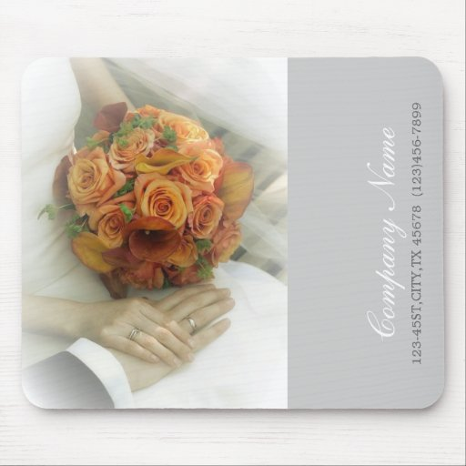 wedding bouquets wedding planner business mouse pads