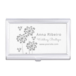 Wedding Boutique  Hydrangea Floral Minimalist Mode Business Card Holders