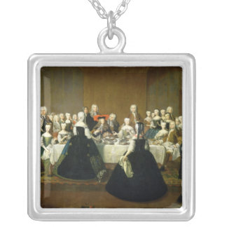 Wedding Breakfast Silver Plated Necklace