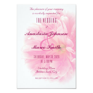 Wedding Bridal Floral Peony Flower Chic Card
