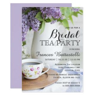 Wedding Bridal Shower Afternoon Tea Lilac Flowers Card