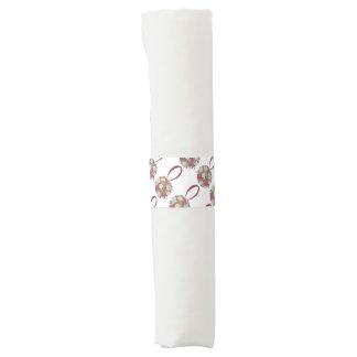 Wedding Bridal Shower Flower Bouquet Napkin Bands