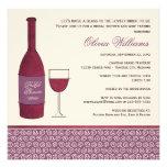 Wedding Bridal Shower Invites | Wine Theme Personalized Invitation