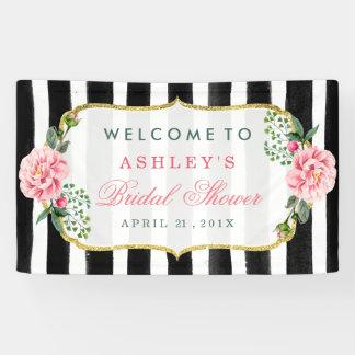 Wedding Bridal Shower Romantic Floral Stripes