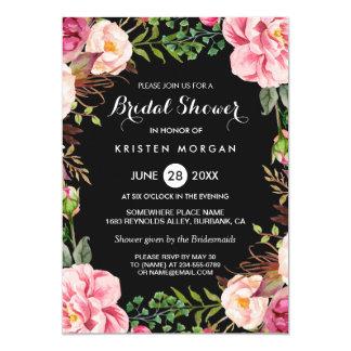 Wedding Bridal Shower Romantic Floral Wreath Wrap 13 Cm X 18 Cm Invitation Card