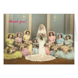 Wedding Bridal shower thank you notes Note Card
