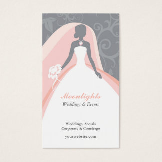 Wedding dress bridal business cards business card printing wedding bridal white dress business card reheart Images