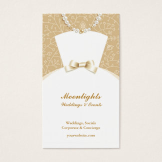 Dress boutique business cards business card printing zazzle uk wedding bridal white dress business card reheart Images