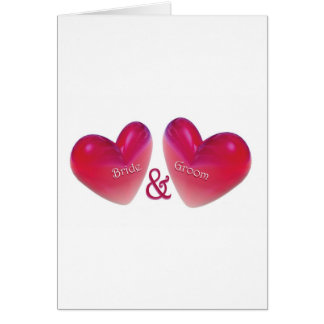 Wedding Bride and Groom Card