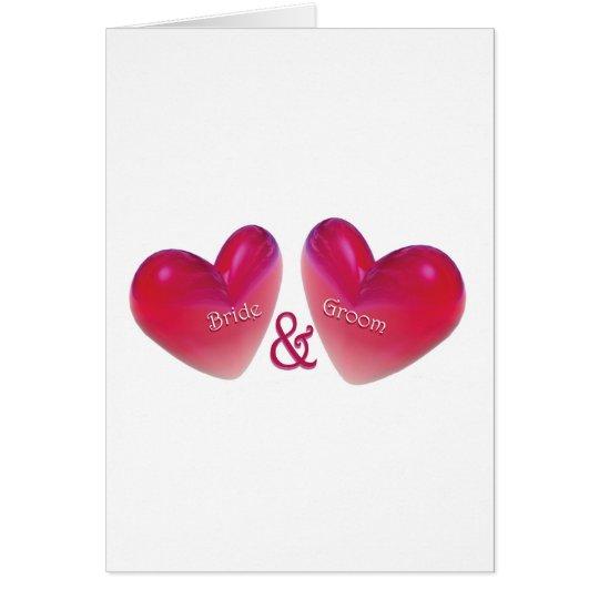 Wedding Bride and Groom Card