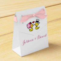 Bride and groom ducks Favour Box