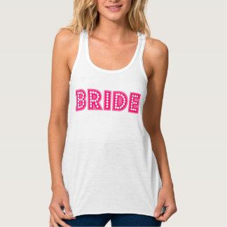 wedding, bride flowy racerback tank top