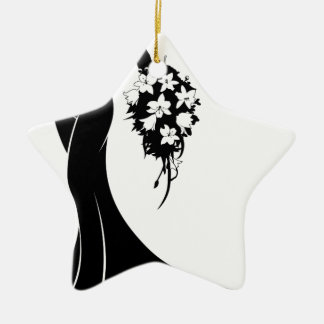 Wedding Bride Silhouette Ceramic Star Decoration