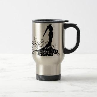 Wedding Bride Silhouette Design Travel Mug