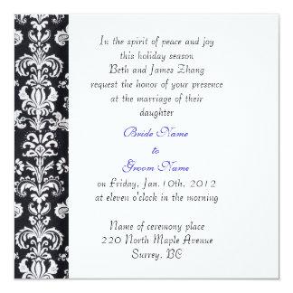 wedding, bride's parents invitation. 13 cm x 13 cm square invitation card