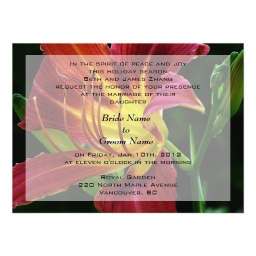 wedding, bride's parents invitation custom announcement