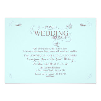 Wedding Brunch in Blue Invitation