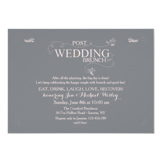 Wedding Brunch in Gray Invitation
