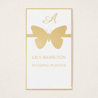 Wedding butterfly business card