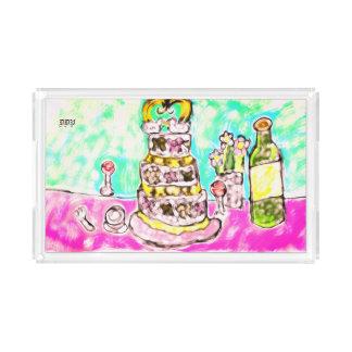 wedding cake acrylic tray