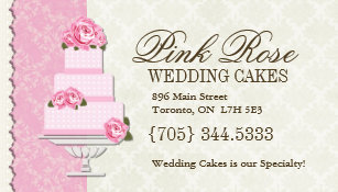 Wedding cakes business cards business card printing zazzle uk wedding cake artist business cards reheart Image collections