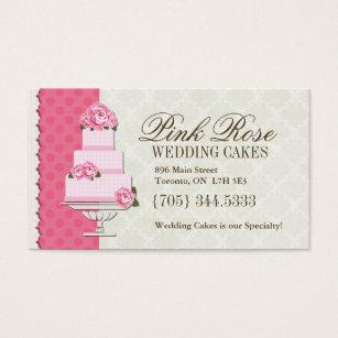 Cake cartoon business cards business card printing zazzle uk wedding cake artist business cards reheart Choice Image