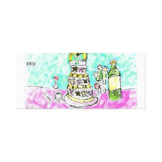 wedding cake canvas print