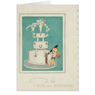 Wedding Cake Cupid Card