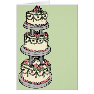 Wedding Cake - Customisable Colour! Greeting Card