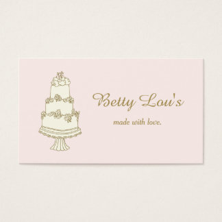 Wedding Cake Decorator Pastry Shop Bakery Business Card
