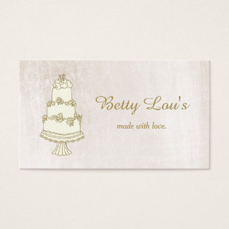 Wedding Cake Decorator Pastry Shop Bakery III Business Card