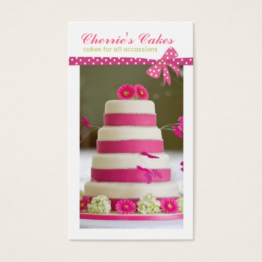 Wedding Cake Designer Business Cards