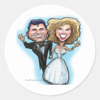 Wedding Cake Dolls Round Sticker