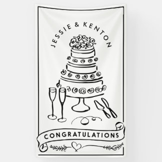 Wedding Cake Engagement Congratulations Banner