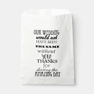 Wedding Cake / Favor Bags Favour Bags