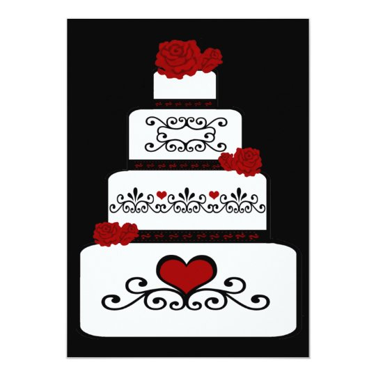 Wedding Cake Invitation