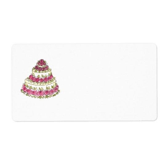 Wedding Cake Label